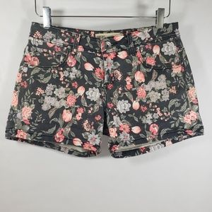 Cotton On Gray Floral Jean Short Shorts Sz 6